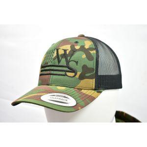 Branded Camo Snapback Cap